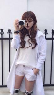 jacket,white,kfashion,striped jacket,kfashion probably,ulzzang,Korean Ulzzang,kawaii