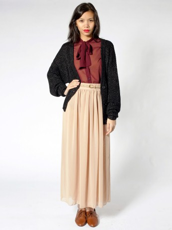 Double-Layered Full Length Skirt | Long | Women's Skirts ...