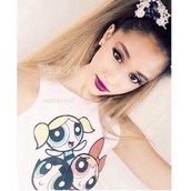 ariana grande,cartoon,style,soft grunge,the powerpuff girls,tank top,t-shirt