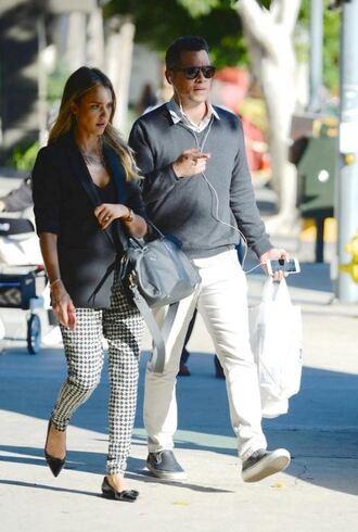 pants jessica alba bag shoes top jacket baggy pants