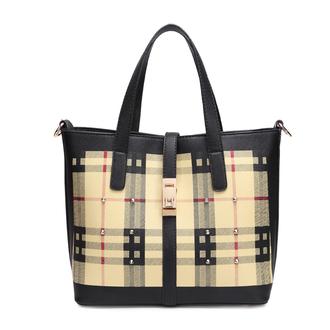 bag women casual tartan shoulder bag black bag shoulder bag handbag fashion women girl street new high-quality