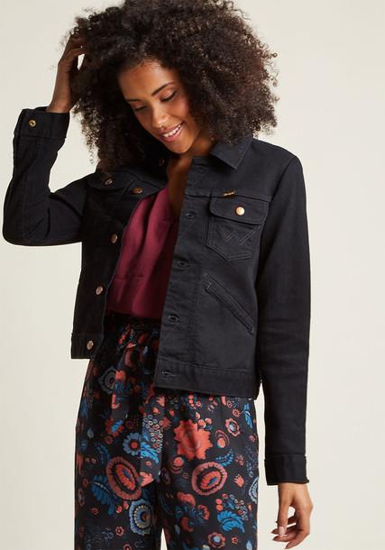LMPJ71B jacket denim jacket denim back style classic black