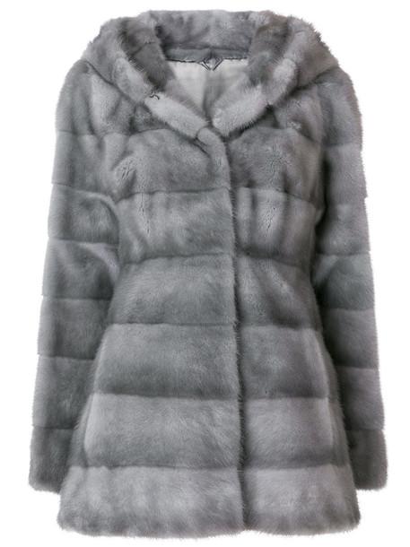 jacket fur women grey