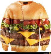 sweater,hamburger,mcdonalds,la delicatesse