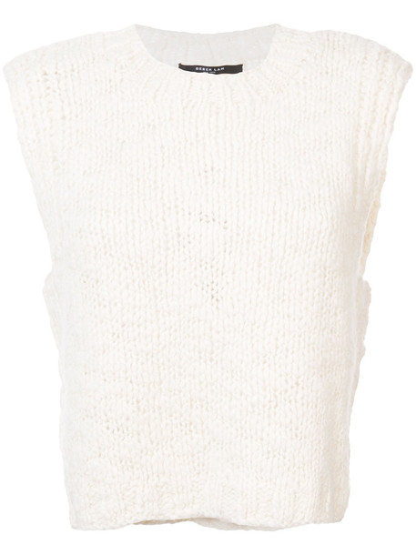 Derek Lam - Cropped Knit Vest - women - Cashmere/Wool - M, White, Cashmere/Wool