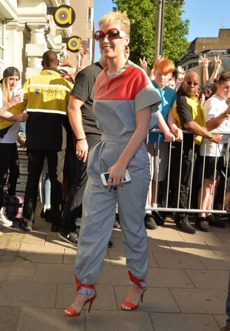 pants top sandals two-piece katy perry