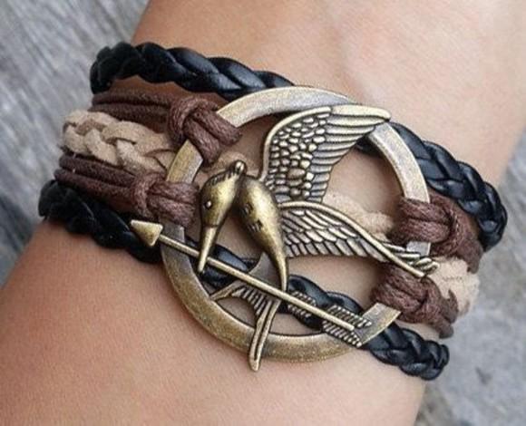 the hunger games katniss jewels mocking jay bracelets
