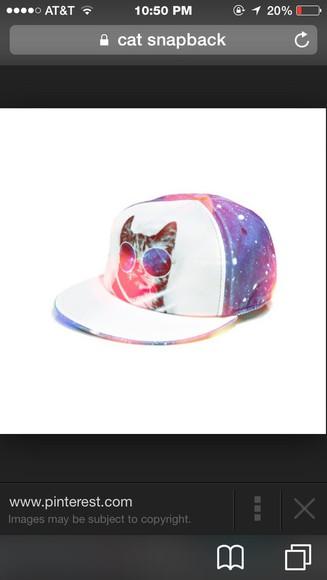 galaxy print cats snapback