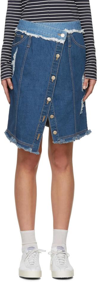 skirt wrap skirt denim blue