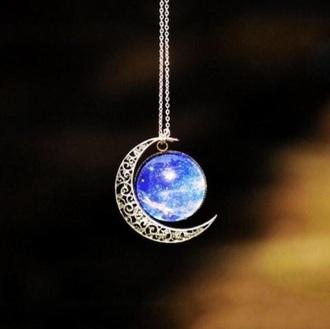 jewels crescent moon necklace