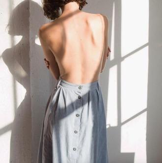 skirt backless back to front skirt maxi skirt button skirt