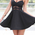 Women V-Neck Braces Mini Dress