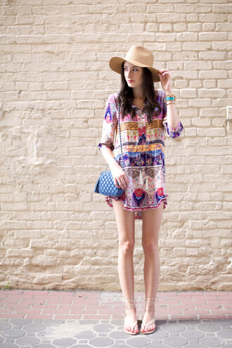 the glam files blogger hat dress jewels shoes bag make-up