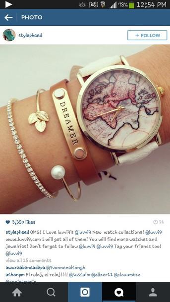 jewels map watch bracelets dimonds
