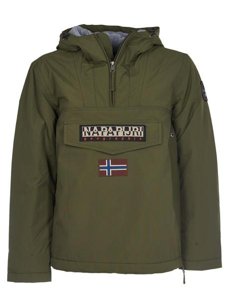 Napapijri Hooded Logo Jacket in green
