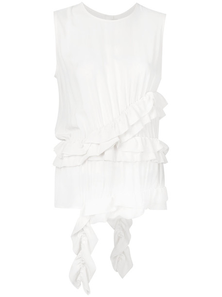MARNI vest women white silk jacket