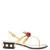 Hatsumomo cherry-embellished leather sandals