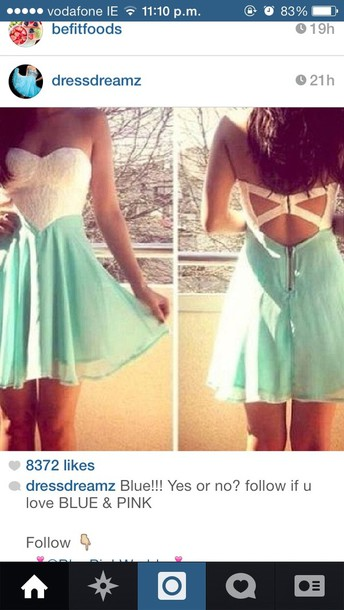 dress pretty short green white lace