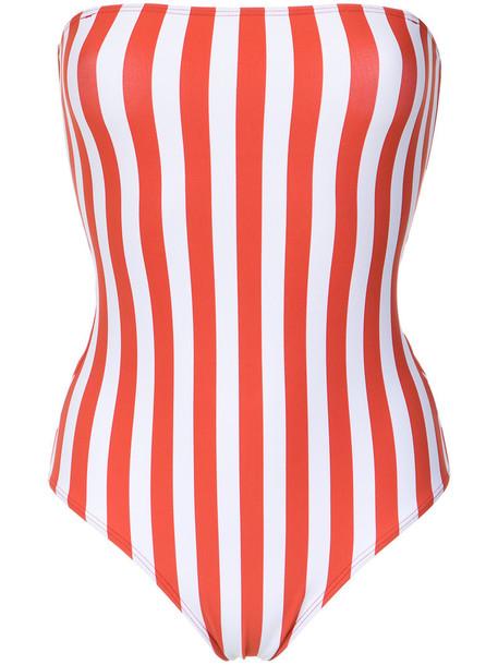 Lygia & Nanny - 'Stripes Fluity' swimsuit - women - Polyamide/Spandex/Elastane - 40, Red, Polyamide/Spandex/Elastane