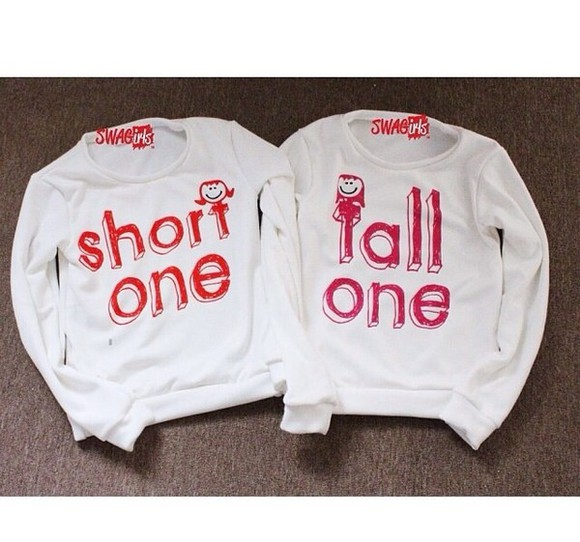 short sweater whitesweater tall bestfriends