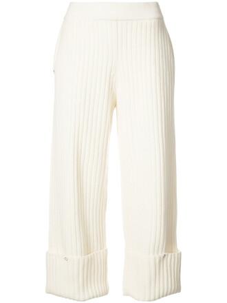 women white wool pants