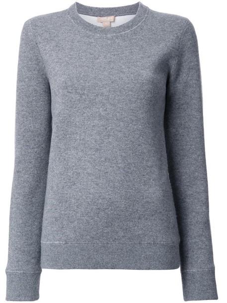 Michael Kors jumper basic women spandex cotton grey sweater