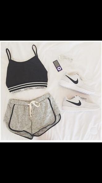 shorts t-shirt shoes