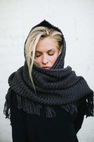 crochet scarf fringes knitwear