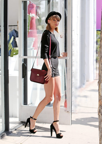 shorts taylor swift sandals top hat