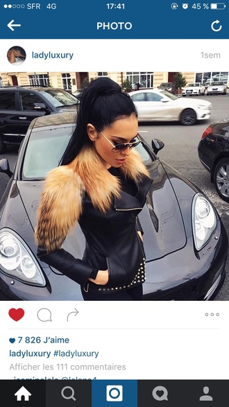 jacket coat fourrure black jacket fur fur coat fur jacket