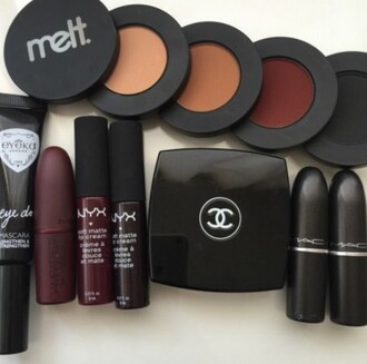make-up melt cosmetics nyxcosmetics lipstick red lipstick dark dark red lip gloss lip creme maroon/burgundy burgundy nars cosmetics chanel