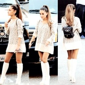 sweater dress,knitted sweater,ariana grande,dress,sweater,cute,oversized sweater