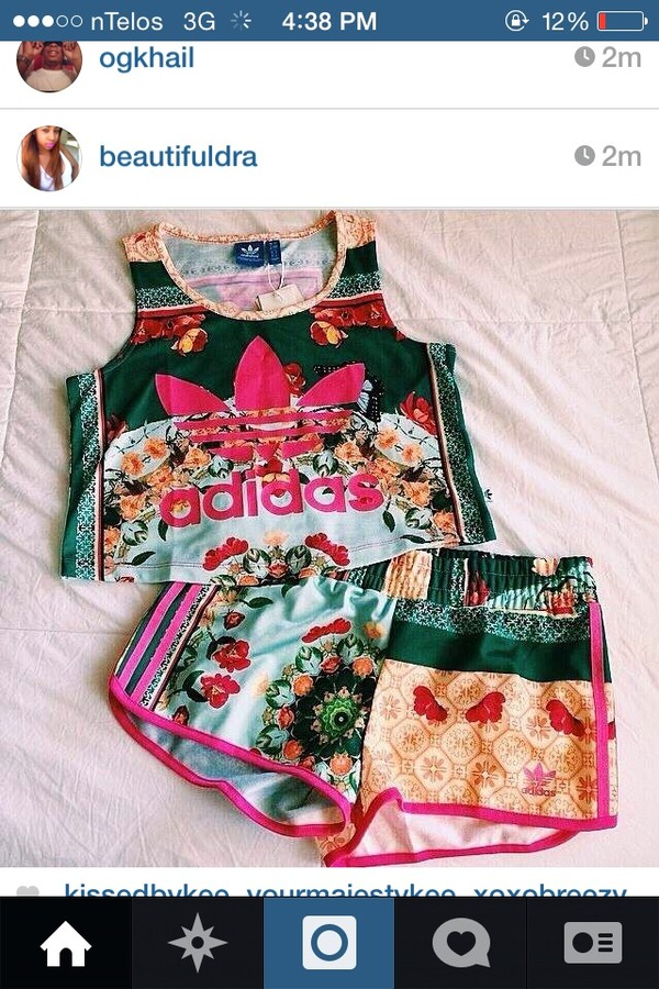 floral women adidas