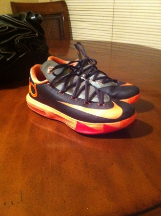 kevin durant orange shoes basketball shoes yasss kevin durants 6 kds kd nike hot keeping up with the kardashians 100 like a boss