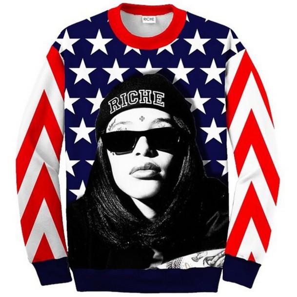 sweater aliyah sweatshirt