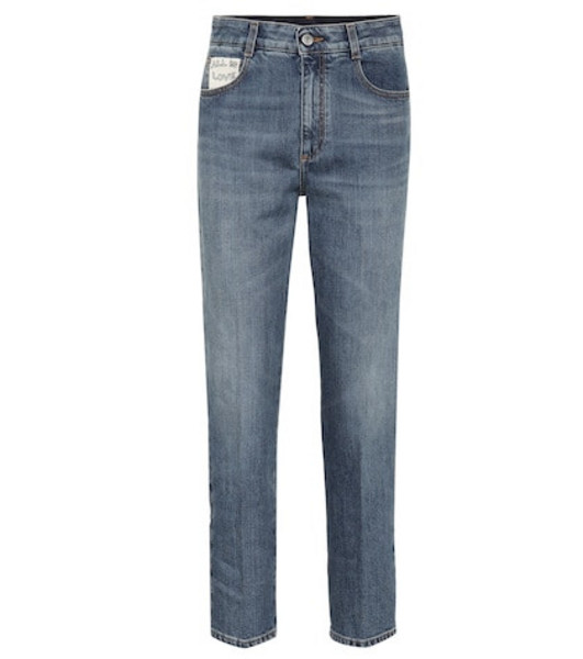 Stella McCartney High-waisted straight jeans in blue