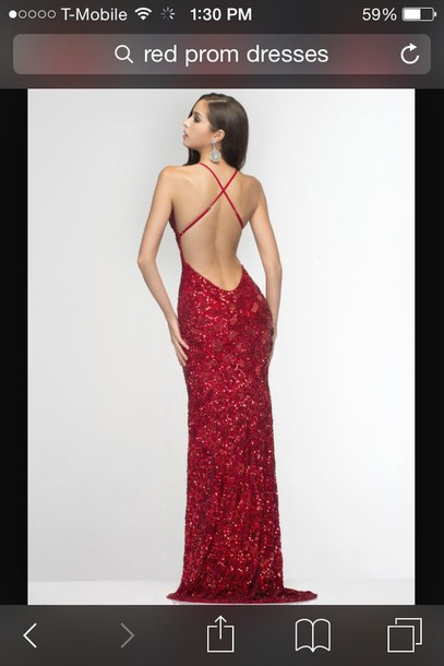 dress red dress long dress backless prom dress