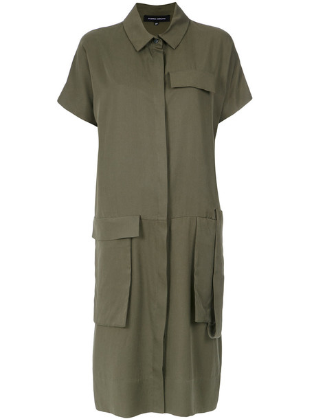 Gloria Coelho dress shirt dress women midi green