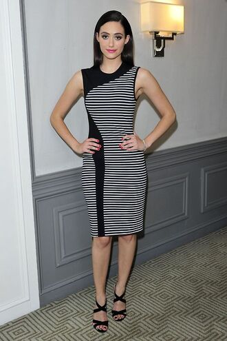dress emmy rossum sandals