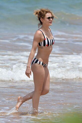 swimwear bikini bikini top bikini bottoms cherry lucy hale celebrity summer beach