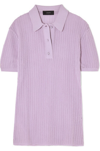 top knit lilac