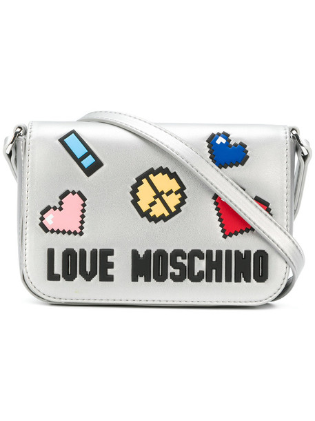 LOVE MOSCHINO women love bag shoulder bag leather grey