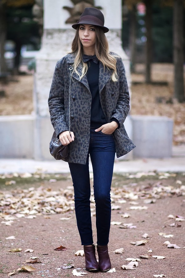 fadela mecheri hat sweater jeans shoes coat
