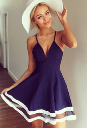 dress,navy,navy dress,lovely,blue and white dress,romper,mesh,summer dress,mesh-paneled,strappy dress,purple dress,blue dress,white,summer,white hat,low v neck dress,elegant,high-low dresses,summer outfits,trendy,blue,simmer dress,flowy dress,v neck,mini dress,purple,sundress,dark blue dress,blue and white,satin skirt,silk skirt,cute dress,black dress,beach dress,girly,girl,girly wishlist,cute,short,exactly like those or close,navy blue beach dress