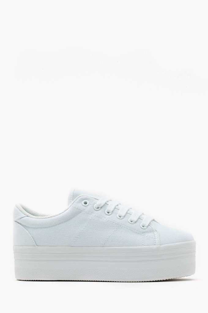 Zomg Platform Sneaker - White | Shop Platforms at Nasty Gal