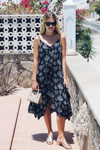 dress tumblr midi dress slip dress asymmetrical shoes gold shoes bag mini bag