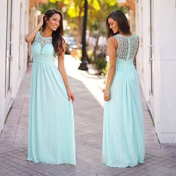 dress, mint maxi dress, crochet maxi dress, mint bridesmaid dress ...