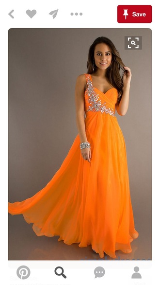 dress orange orange dress orange prom dress prom dress one shoulder one shoulder formal dresses neon orange