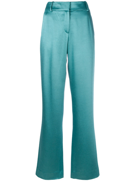 SIES MARJAN high waisted high women silk wool green pants