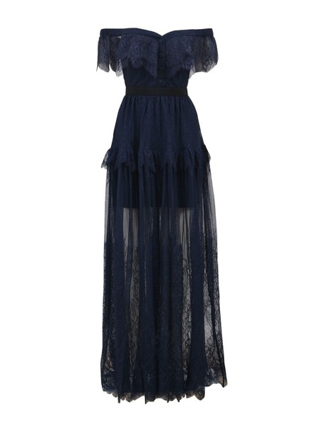 dress maxi dress maxi lace blue